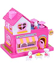 Dollhouse DIY, Miniature Sweet House Set, Cute Play set, Mini Dollhouse Kit with Furniture, Best Gift for Children