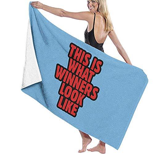 Zwembad handdoek Dit is Wat Winnaars eruit zien Microfiber Bad Handdoeken Snelle Droge Super Absorbens Handdoek voor Spa 80X130cm