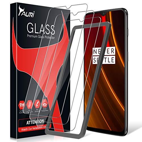 TAURI Pellicola Protettiva per OnePlus 6T 3 Pezzi Kit d'Installazione 2.5D 9H Durezza Senza Bolle Protezione Schermo Vetro Temperato