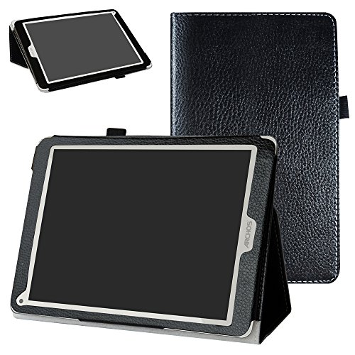 Mama Mouth Archos 97C Platinum Funda, Slim PU Cuero con Soporte Funda Caso Case para 9.7' Archos 97C Platinum Android 6.0 Tablet PC,Negro