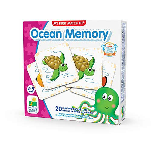 The Learning Journey My First Memory Game - Ocean Memory - 20 Card Matching Memory Game - Educational Toddler Gifts for Boys & Girls Ages 2 and Up  Multicolor
