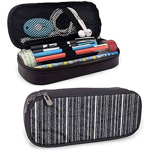 Streifen Federmäppchen Beutel Stift Box Barcode Muster Punkte