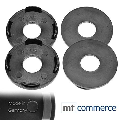 CRK 4 tapas para llantas de 55 mm, color negro, planas, para...