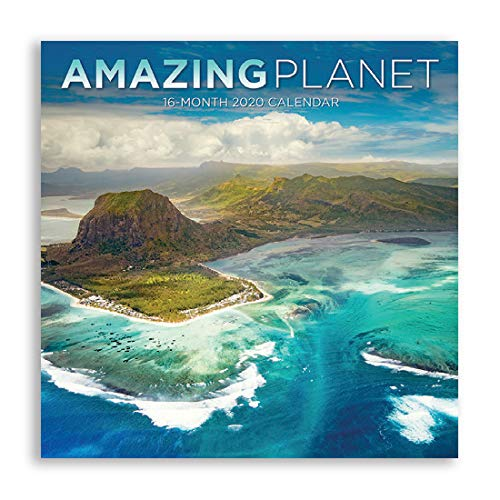 B-THERE 16 Month Premium Wall Calendar 2020 Each Month Displays Full-Color Photograph. Printed on Linen Embossed Heavyweight Paper Stock (Amazing Planet)