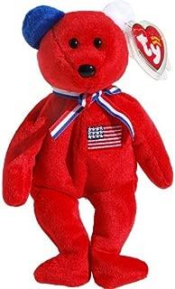 America 911 Memorial Red Teddy Bear - Ty Beanie Babies by Beanie Babies - Teddy Bears