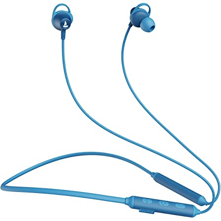 boAt Rockerz 245v2 Wireless Bluetooth V5.0, 8 Hours Playback Time, IPX5 Sweat and Water Resistance, in-Built mic and Voice Assistant(Ocean Blue)