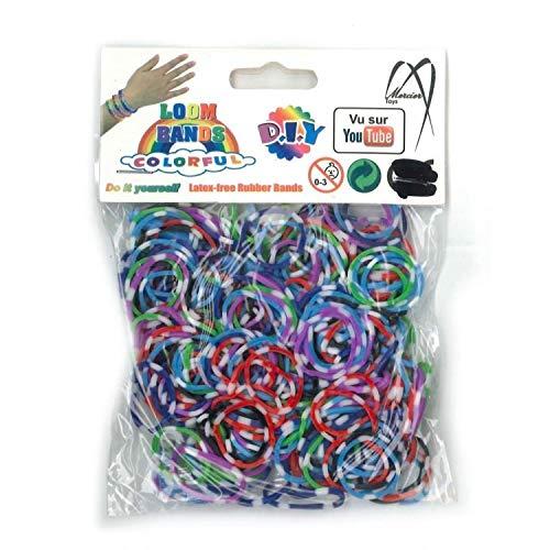 Elastiques pour bracelet Bicolores jeton de poker - DIY