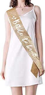 personalized bridal sash