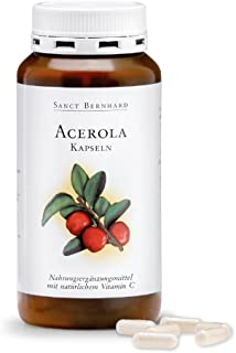 Acerola - Cápsulas con natural Vitamina C. Acerolafrucht polvo 300 Cápsulas