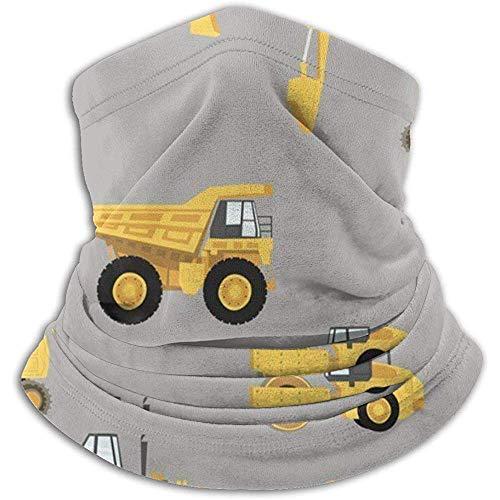 Linger In Camiones de construcción Seamless Neck Polaina Bufanda Bandana Mascarilla Unisex