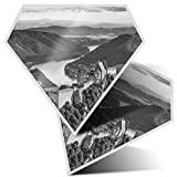 Impresionante pegatinas de diamante de 7,5 cm BW – Aggstein Castle Danubio Austria Divertidas calcomanías para portátiles, tabletas, equipaje, libros de chatarra, frigorífico, regalo genial #42460