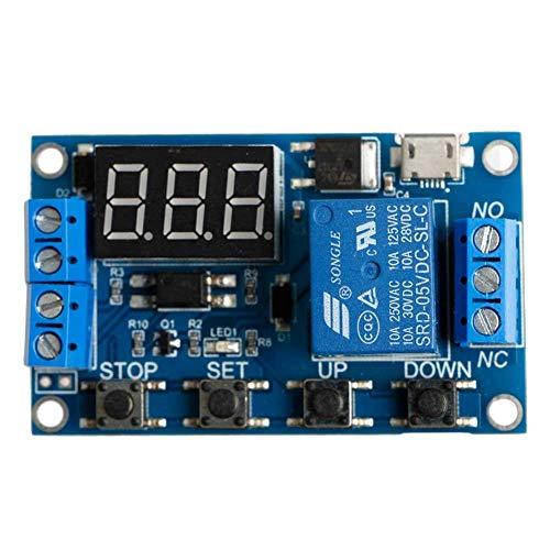 ARCELI speichern 6-30 V Einstellbare Relais Timer Zyklus Modul Schalter Trigger Zeitverzögerung Platine