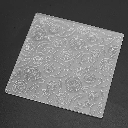 Jiawu Forniture per Album di Carte Cartella per goffratura Fai-da-Te, Modello Goffrato per Strumenti per la creazione di creazioni di Carta, Motivo a Rosa 2 Pezzi per Le Popolari Macchine per