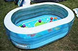 WCY Swimming-Pool, Game Center Transparent Oval Pool, Baby Pool, spielt Pool, Geeignet for Kinder im Alter von 3-9,163 * 107 * 46CM yqaae