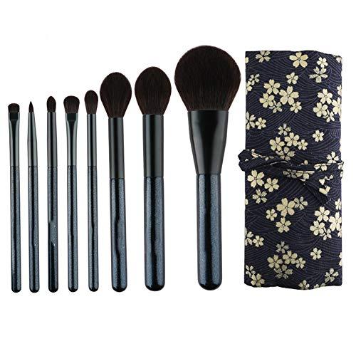 ZXIAOMEI Pinceau de maquillage Set 6 pinceaux de maquillage professionnel avec des sacs de haute qualité Fondation Fondation mixte fard à joues Ombre à paupières Pinceau Correcteur
