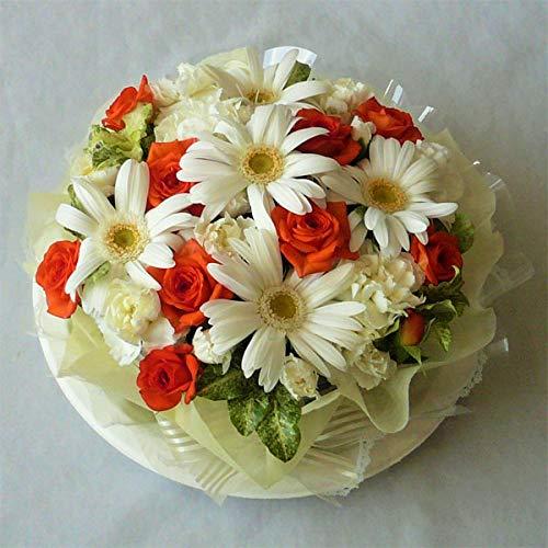 フラワーケーキ/ガーベラ・ホワイトケーキ オレンジ