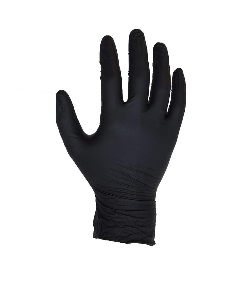 アンプコーデリアログ100個入り(1箱)ブラックニトリル手袋 - サイズL - パウダーフリー - 使い捨て - ラテックスフリー - AQL 1.5 - ASPROによる