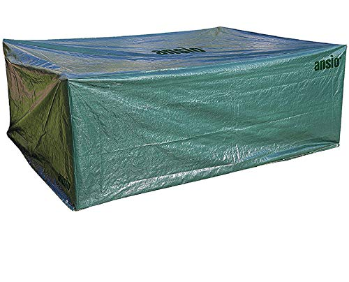 ANSIO Housse de mobilier de jardin Large Patio Cover Set Outdoor Outdoor Waterproof, Dust dust, Rectangular cover - Size 2.8 M x ​​2.04 M x 1.06 M / 9.2 ft x 6.7 ft x 3.48 ft