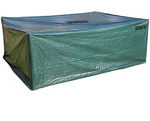 ANSIO Housse de mobilier de jardin Large Patio Cover Set Outdoor Outdoor Waterproof, Dust dust, Rectangular cover - Size 2.8 M x 2.04 M x 1.06 M / 9.2 ft x 6.7 ft x 3.48 ft