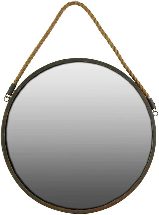 Urban Fashion Trends Metal Round Wall A surprise price is realized with Mirror Brown Rope