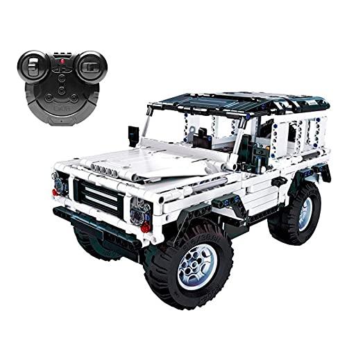 JUGUETECNIC │ Coche Teledirigido Jeep para Montar   533 Piezas │ Stem Toys │ Blanco
