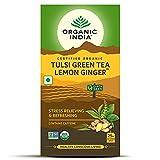 Organic India Tulsi Green Tea Lemon Ginger 25 TB
