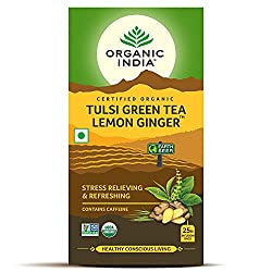 Organic India Green Tea Lemon Ginger