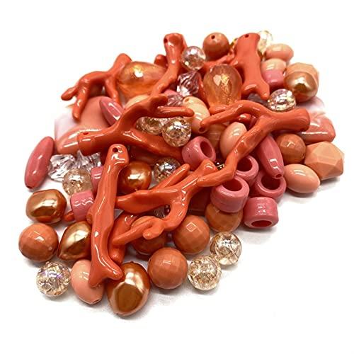 DYKJK 100 g/paquete de cuentas de mezcla de acrílico para hacer pulseras hechas a mano, accesorios para hacer joyas de bricolaje (color: D)