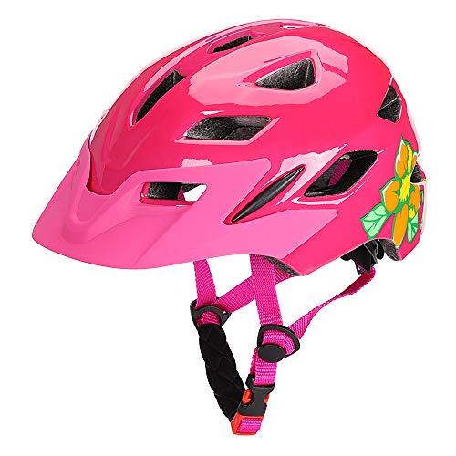 Lixada Casques de vélo pour Enfants Casque de Sport de Cyclisme léger avec lumière de sécurité pour garçons Filles