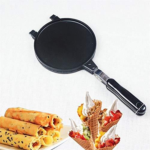 WXH Stampo per Waffle antiaderenti, vaschetta per Bolle per Uova per Waffle, Manico Lungo, per Cucina Domestica, Ristorante, Snack Bar, Negozio di Bevande