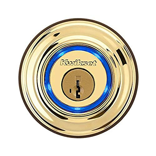 Kwikset 925KEVO-L03S Kevo Bluetooth Enabled Deadbolt Smart Key Lifetime Brass Finish