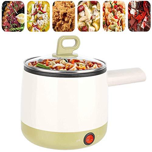 BBZZ Sartén eléctrica mini multi-cocción portátil eléctrica pequeña olla eléctrica de 1 l olla caliente eléctrica olla de arroz para dormitorio, viajes, hogar, cocina, oficina