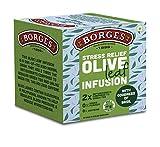 Borges Stress Relief Olive Leaf Infusion, Basil, Olive Leaves & Basil Leaves (Tulsi), 10 Bag, 15 g