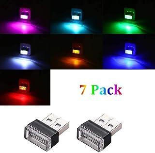 7PCS (7 Colors) USB LED night Led Decoration Mini USB Light, Car Interior Atmosphere Lamp, Ambient Lighting Kit, Charging ...