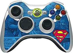 Skinit Decal Gaming Skin for Xbox 360 Wireless Controller - Officially Licensed Warner Bros Superman Logo Design