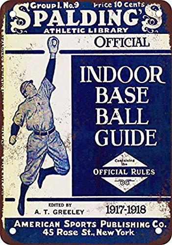 TableRTRADE Spalding Baseball Guide Wandschild, lustige Schilder, 20,3 x 30,5 cm