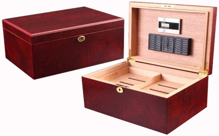 BINGFANG-W Mesa Mall Cigar Box Rose Humidor Small Popular overseas Red Cabine