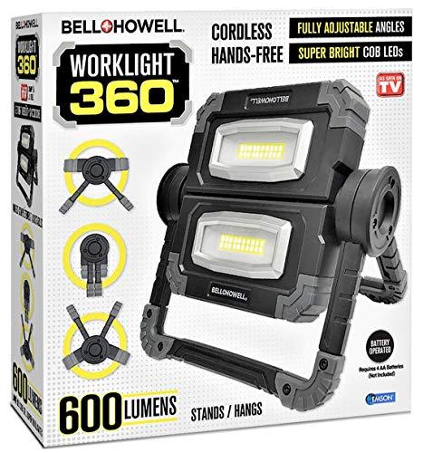 Bell+Howell Worklight 360 Waterproof Portable Heavy-Duty Dual Lighting Easy to Use Multi-Position Handyman Plumber Mechanic Mega Task Light As Seen On TV