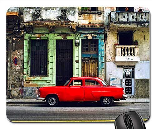 Alfombrilla de ratón - Ciudad de La Habana Cuba Edificios urbanos Coche Auto