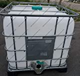 Class IBC Tank, Regenwassertank 800L auf Stahl und Stahl/PE-Palette -