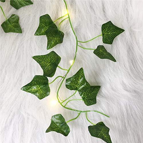 Lichterkette 2M künstliche Pflanzen LED String Licht Creeper grün Blatt Efeu Rebe für Haus Hochzeit Dekor Lampe DIY hängenGarten Hof Beleuchtung