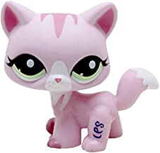 Meetsunshine LPS Figure Toy,Loose Cute LPS Pet Cat Child Girl Figure Toy Standing Doll Pink