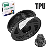 Filamento de poliuretano termoplástico (TPU) E-DA, 1,75 mm, 1 kg, filamento de impresora 3D, bajo olor, flexible, apto para la mayoría de impresoras 3D, Negro , 10