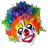 Halloween Costumes Clown Mask Foam Latex with Hair Party Horror Props Mask Prank