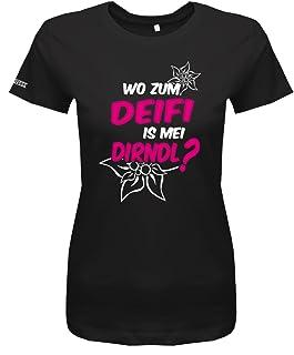 Jayess   myShirtStore Oktoberfest - Wo zum deifi is MEI Dirndl - Damen T-Shirt