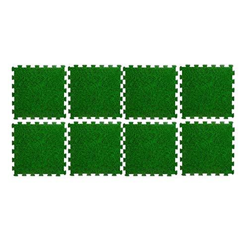 WEB2O 8 Fliesen Bodenmatte für Pool – 50 cm x 50 cm – grün laminiert