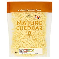 Morrisons Mature Grated Cheddar Cheese, 250g