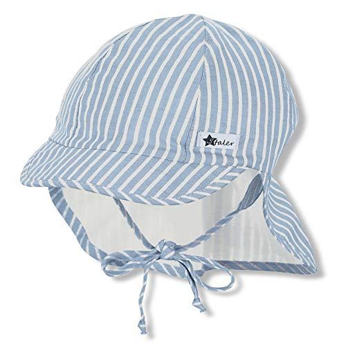 Sterntaler Baby-Jungen m 1612132 Schirmmütze mit Nackenschutz, blau, 53