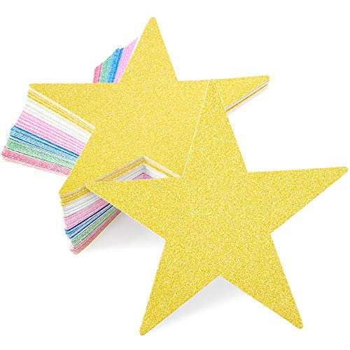 Bright Creations Glitter Star Cutouts (60 Count), 6 Colors