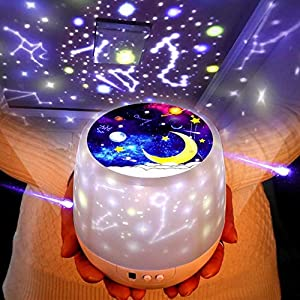 Projector,Led Nebula Cloud Game Rooms, Home Night Ambiance Sleep Soother Projection Led Night Light Relaxing Show Baby Kids Adults Mood Light Baby Nursery Bedroom Living Room Galaxy Colors
